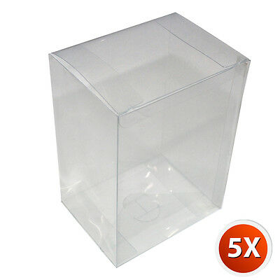 5-Pack [4 inch] Crystal Clear Vinyl Box Cover Case w/ Plastic Film For Funko Pop