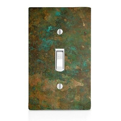 Light Switch Plate Cover Aged Copper Image Patina Wall Plate Toggle Home Decor