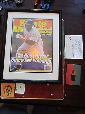 UDA Tony Gwynn 1997 Sports Illustrated Framed Cover 8X10 Signed Auto Padres