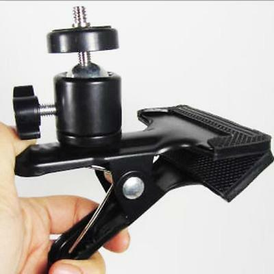 New! Spring Clamp Clip & Ball Head For Photo Studio Camera Flash Light Stand H