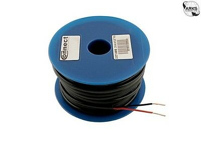 CONNECT Auto Cable Flat Twin 28/0.30 Black/Red 100m - 30053