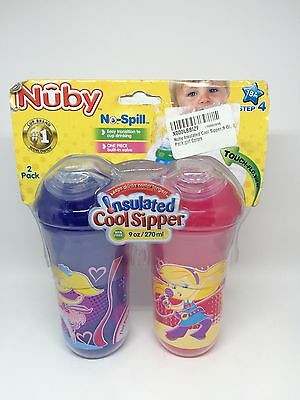 Nuby Insulated Cool Sipper 9 oz. 2 pack Pink Purple Step 4 Ballerina Pop Star