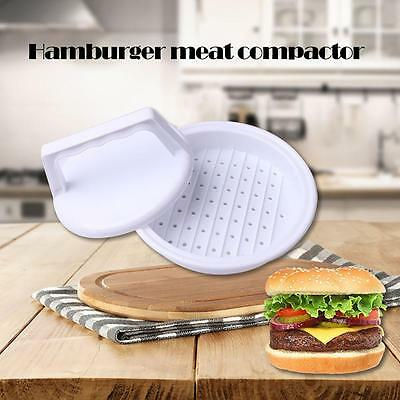 Plastic Burger Press Hamburger Meat Beef Grill Cooking Maker Kitchen Mold BBQ DC
