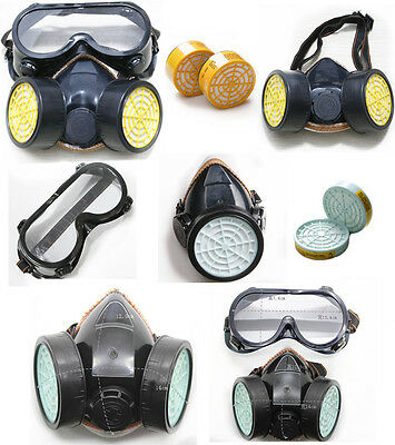 Air Respirator Filter Dual Cartridge Gas Mask Filter Box Protect Goggles Safety
