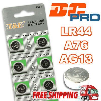 10 x LR44/A76/AG13 1.5V Batteries Alkaline Button Cell Battery Local Stock Fast