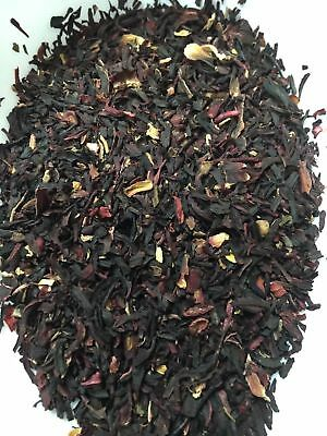 Organic Hibiscus Flower Crushed 1kg Hibsicus Sabdariffa - Includes Tea Dispenser