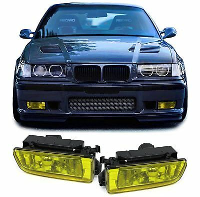 BMW E36 Limousine Coupe Cabrio Compact Touring  KLARGLAS NEBELSCHEINWERFER GELB