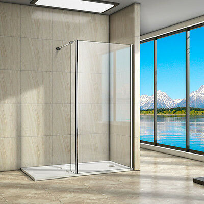 L Shape Walk In Shower Enclosure and 1400x900mm Tray 8mm Easy Clean Glass Screen