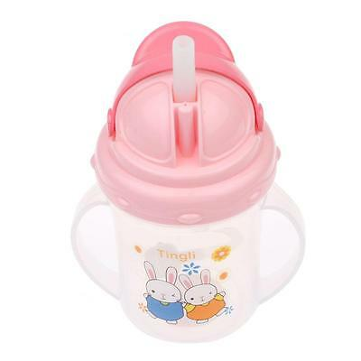 Portable 150ML Baby Toddler Drinking Feeding Bottle Straw Handle Sippy Cup Mug
