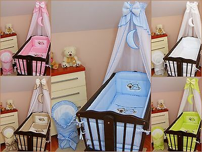 11 pcs CRIB bedding set /BumperALL ROUND/sheet/duvet/CANOPY/CANOPY HOLDER