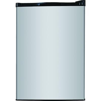 2.6 cu. ft. ENERGY STAR Mini Stainless Look Compact Glass Can Shelf Refrigerator