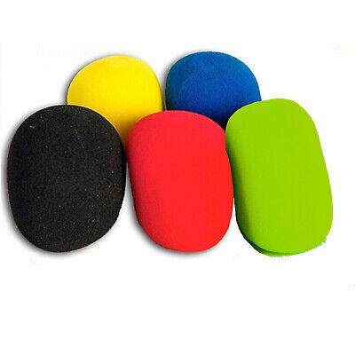 5 Pack Mix Colours Handheld Microphone Karaoke DJ Windshield Sponge Foam Mic