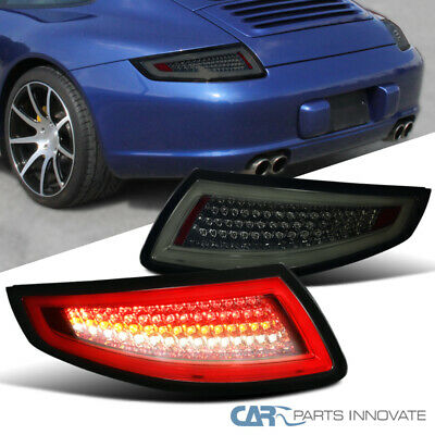 2005-2008 Porsche 911/997 GT3 GT2 Turbo Carrera Targa Smoke Lens LED Tail Lights