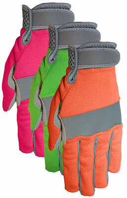 MIDWEST QUALITY GLOVES Max Performance Work Gloves, Green & Tan, Women's Small