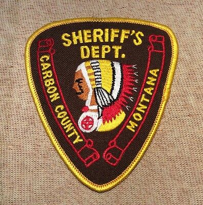 MT Carbon County Montana Sheriff Patch