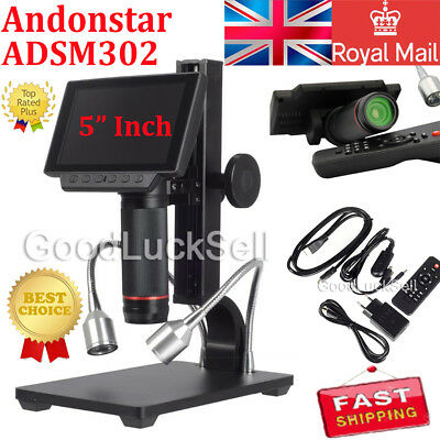 Andonstar V160 2MP USB Digital Microscope Video Camera Repair PCB Tool Camera UK