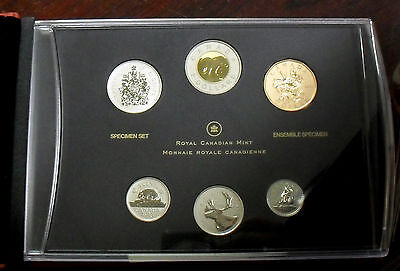 2013 Canada 6-Coin Specimen Set with Blue Winged Teal Loonie $1, in OGP with COA