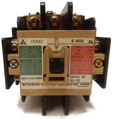 Mitsubishi Electric S-K50 Contactor T45978 USED