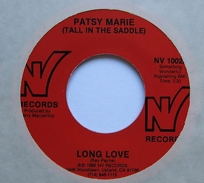 """PATSY MARIE - Long Love - Excellent Condition 7"""" Single NV 1002"""