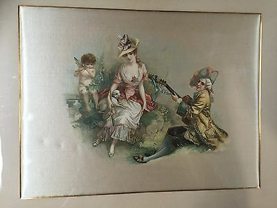 Antique Hand Painted Silk