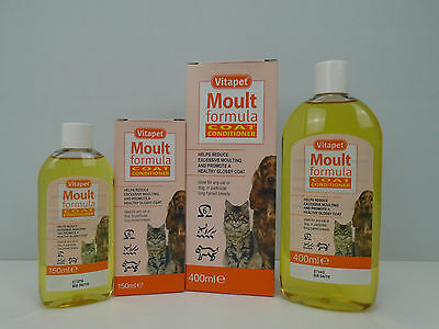 Vitapet Moult Formula Cat & Dog Coat Conditioner Reduce Moulting