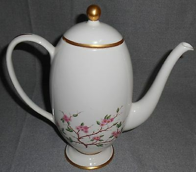 Franciscan China WOODSIDE PATTERN Coffee Pot w/Lid CALIFORNIA