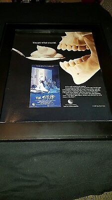 The Stuff Rare Original VHS Promo Poster Ad Framed!