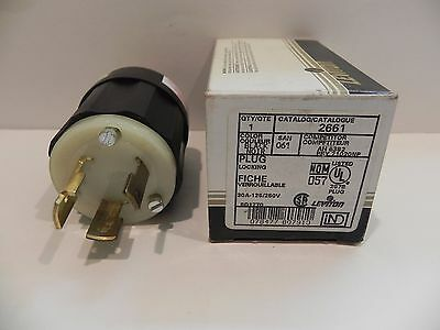 NEMA L10-30P Leviton 2661 30 Amp 1 PH  125/250 V 3 P 3 W Twist Lock Male Plug