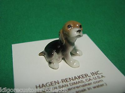 Hagen Renaker Dog Beagle Pup Figurine Miniature 00434 Porcelain Ceramic New