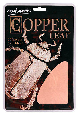 Mont Marte Copper Leaf 14x14cm 25 sheets Great for Artwork & Jewellery Making