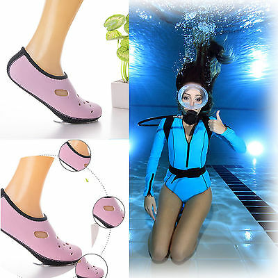 1pair Diving Anti-slip Safe Socks Scuba Surfing Swimming Water Sports Boots Wet