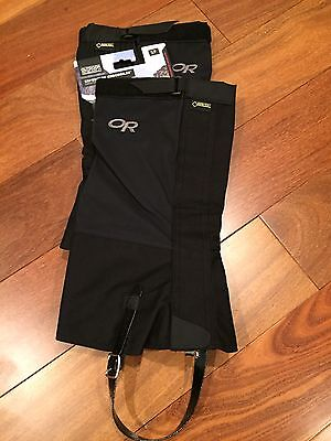 NEW Outdoor Research OR Crocodiles Gore-Tex Gaiters Black Size Small