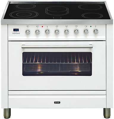 NEW Ilve NTE90WMP/B Freestanding Electric Oven/Stove