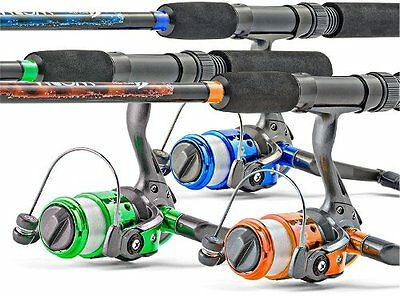 South Bend Worm Gear Spinning Fishing Combo - Green, Blue or Orange [887208]