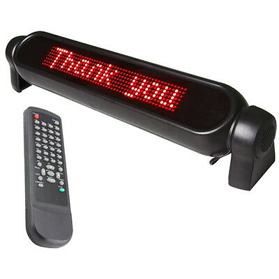 Car Advertising Scrolling LED Light Sign Message Board Display + Remote Control