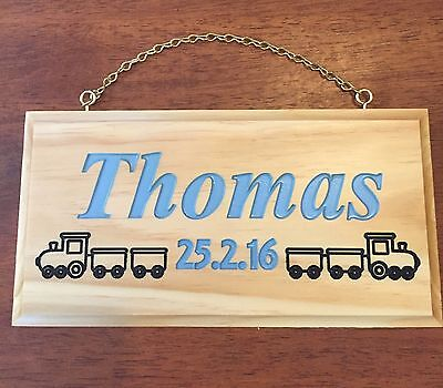 Personalised Kids's Name Plaque Engraved Wooden Sign