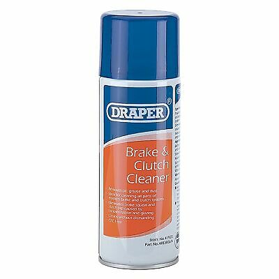 Draper 400ml Brake And Clutch Cleaner/Cleaning Aerosol Spray Can - 41925