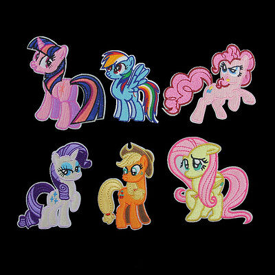 Embroidery My Little Pony Horse Sew Iron On Patch Badge Hat Bag Fabric Applique