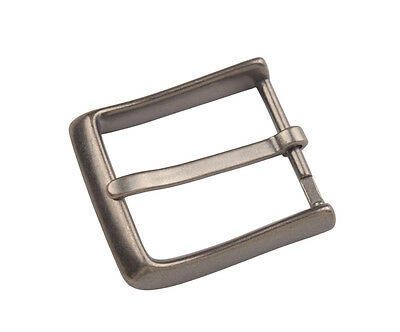 1PCS Mens Antiqued Silver Alloy Metal Horseshoe Pin Buckle 58x52mm #92907