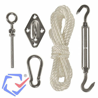 Mounting Kit Garden Awning Shade Sail Tension Hooks Mounting Set