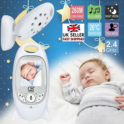 2.4GHz Baby Monitor Wireless Camera Night Vision Safety Viewer 2Way Audio Video