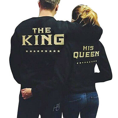The King and His Queen Couple Hoodie Matching Hoodies Sweatshirts Jumper Sweater