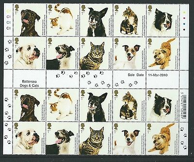 Great Britain 2010 Cats And Dogs  Gutter Pair Block Unmounted Mint, Mnh