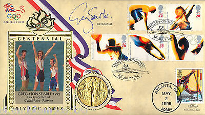 1996 Olympics - Benham Gold Medal Official - Signed by GREG SEARLE MBE