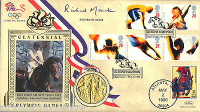 1996 Olympics - Benham Gold Medal Official - Signed by RICHARD MEADE