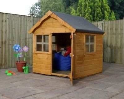 Childrens Garden Playhouse Kids Wooden Play Set Outdoor Toys Wood House Kid Toy