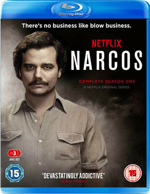 Narcos: The Complete Season One Blu-Ray (2016) Wagner Moura ***NEW***