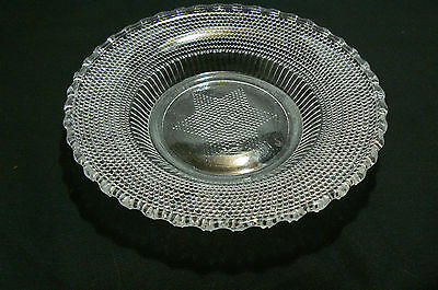 Vintage Lovely Unmarked Pressed Glass Dish