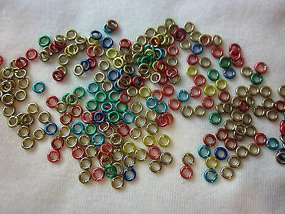 100 Mixed Colour Jump Rings 4.5mmx0.8mm #3440