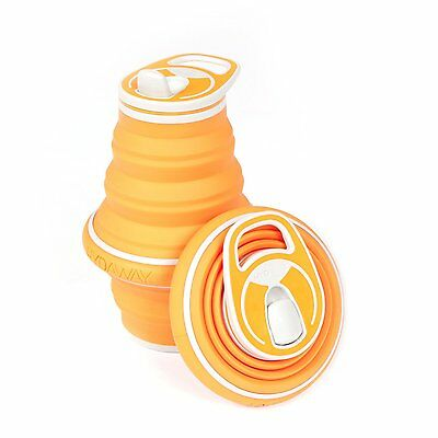 HYDAWAY Collapsible Bottle 21oz Tangerine The ultimate travel & hiking companion